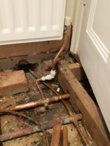 Pipework with Blocked Drain Cambridge